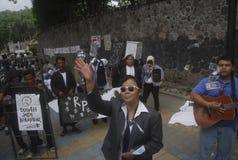 BEDREIGING VAN DE DE CORRUPTIEoorlog VAN INDONESIË DE ANTI Royalty-vrije Stock Fotografie