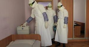 Bedreiging van de epidemie of de besmetting stock footage