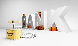 Bedreiging voor een bank Stock Fotografie