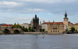 The Bedrich Smetana Museum in Prague. And the mill Stock Photography