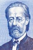 Bedrich Smetana stående från gamla tjeckiska pengar Arkivbild