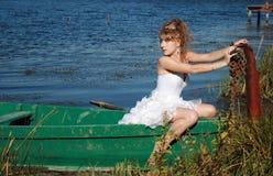 Bedridden bride Royalty Free Stock Photography