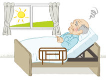 Bedridden senior men Royalty Free Stock Images