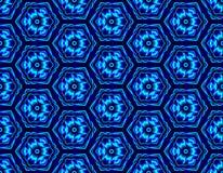 Bedriegt de de winter naadloze die illusie van zeshoeken wordt geassembleerd met stock illustratie
