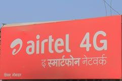 Bedrijf India van de Airtel het Indische mobiele telefoon Stock Fotografie