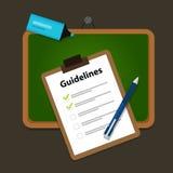 Bedrijf richtlijnen van het bedrijfsgids het standaarddocument Stock Foto