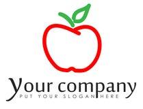 Bedrijfadreskaartje met appel Stock Foto's