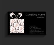 BedrijfAdreskaartje op Zwarte Achtergrond Royalty-vrije Stock Afbeelding