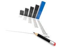 Bedrijfs 3d diagram. Geïsoleerdr Stock Fotografie