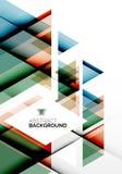 Bedrijfs Abstract Geometrisch Malplaatje Stock Afbeeldingen