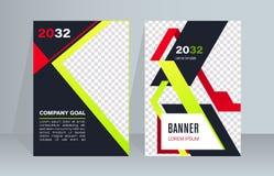Bedrijfs abstract vectormalplaatje Het brochureontwerp, behandelt moderne lay-out, jaarverslag, affiche, vlieger royalty-vrije illustratie