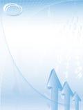 Bedrijfs abstracte achtergrond met embleem royalty-vrije illustratie
