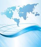 Bedrijfs abstracte achtergrond met wereldkaart. Vect Royalty-vrije Stock Fotografie