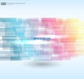 Bedrijfs Abstracte Blauwe Achtergrond Vector illustratie Abstracte kleurrijke achtergrond Royalty-vrije Stock Foto's