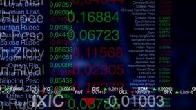 Bedrijfs achtergrond De markt analyseert stock illustratie