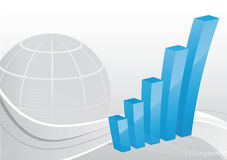 Bedrijfs achtergrond - Grafiek Stock Afbeelding