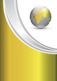 Bedrijfs achtergrond met wereldbol Stock Foto