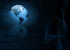 Bedrijfs achtergrond met wereldbol Royalty-vrije Stock Foto's