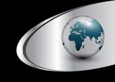 Bedrijfs achtergrond met wereldbol Royalty-vrije Stock Afbeeldingen