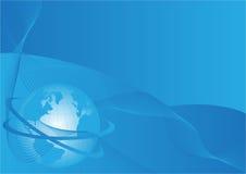 Bedrijfs achtergrond met wereldbol Royalty-vrije Stock Afbeelding