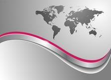 Bedrijfs achtergrond met wereldkaart Stock Fotografie