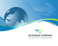 Bedrijfs achtergrondsamenvatting vector illustratie