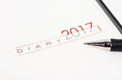 Bedrijfs 2017 agenda Royalty-vrije Stock Fotografie