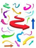 Bedrijfs & van Financiën kleurrijke pijlen vector illustratie