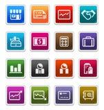 Bedrijfs & van Financiën Pictogrammen 2 - stickerreeks royalty-vrije illustratie