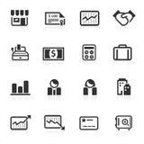 Bedrijfs & van Financiën Pictogrammen 2 - minimoreeks Stock Afbeeldingen