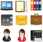 Bedrijfs & van het Bureau pictogrammen Stock Afbeelding