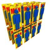 Bedrijfs arbeidersachtergrond Stock Fotografie