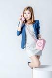 Bedrijfs Aziatische leuke vrouw Stock Foto