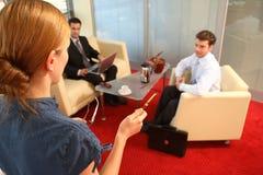 Bedrijfs bespreking Stock Foto
