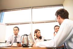 Bedrijfs besprekingsgroep royalty-vrije stock afbeelding