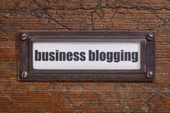 Bedrijfs blogging etiket Stock Afbeelding