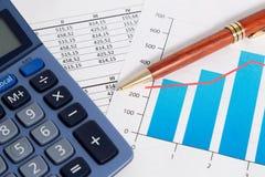 Bedrijfs boekhouding en financiën Stock Afbeelding