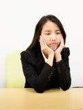 Bedrijfs bored vrouw Stock Fotografie