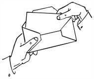 Bedrijfs brief vector illustratie