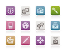 Bedrijfs, bureau en Internet pictogrammen Royalty-vrije Stock Fotografie