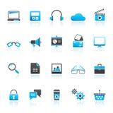 Bedrijfs, Bureau en Marketing Pictogrammen vector illustratie