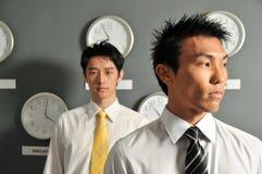 Bedrijfs Bureau met Klokken 62 stock afbeelding