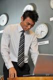 Bedrijfs Bureau met Klokken 77 stock foto