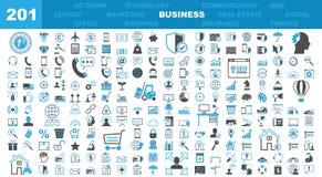 Bedrijfs & Bureaupictogrammen - 201 Iconset royalty-vrije illustratie