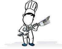 Bedrijfs Chef-kok royalty-vrije illustratie