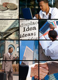 Bedrijfs Collage stock foto's