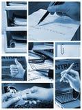 Bedrijfs collage stock fotografie