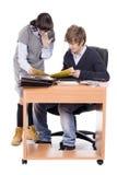 Bedrijfs collega's in het bureau Royalty-vrije Stock Fotografie