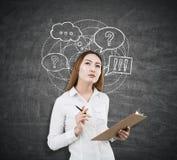 Bedrijfs communicatie concept Royalty-vrije Stock Foto's