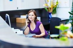 Bedrijfs, communicatie en call centreconcept Royalty-vrije Stock Fotografie